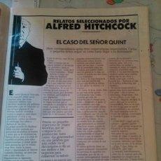 Coleccionismo de Revistas y Periódicos: RECORTE ALFRED HITCHCOCK EL CASO DEL SEÑOR QUINT. Lote 44559467