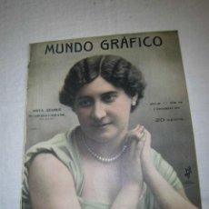 Coleccionismo de Revistas y Periódicos: ANITA ADAMUZ ACTRIZ DE LA COMPAÑIA DE BORRAS(FOT.KAULAK)HOJA REVISTA MUNDO GRAFICO 1913 . Lote 44584726