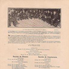 Coleccionismo de Revistas y Periódicos: * ARTE * JURADO DE LA EXPOSICIÓN DE BELLAS ARTES Y LISTA DE EXPOSITORES - 1904. Lote 44641522