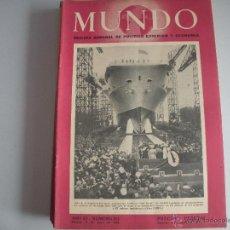 Coleccionismo de Revistas y Periódicos: MUNDO - REVISTA SEMANAL DE POLITICA EXTERIOR Y ECONOMIA AÑO XI - Nº 523. Lote 44647709