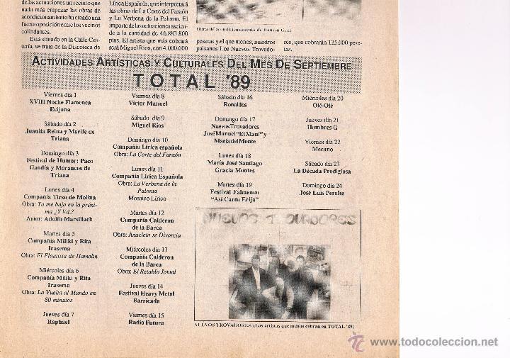 Coleccionismo de Revistas y Periódicos: NUMÉRO 1 PERIÓDICO EL SEMANAL. LA VOZ DE ÉCIJA. 1 A 7 DE JULIO DE 1989. - Foto 2 - 39923595