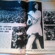 Coleccionismo de Revistas y Periódicos: RECORTE ROLLING STONES BRIAN JONES. Lote 44708817