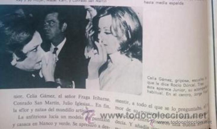 RECORTE ROCIO DURCAL JUNIOR CELIA GAMEZ (Coleccionismo - Revistas y Periódicos Modernos (a partir de 1.940) - Otros)