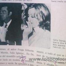 Coleccionismo de Revistas y Periódicos: RECORTE ROCIO DURCAL JUNIOR CELIA GAMEZ. Lote 44710013