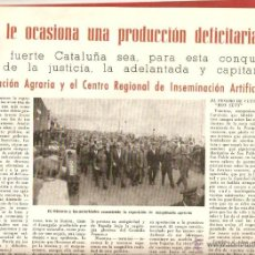 Coleccionismo de Revistas y Periódicos: AÑO 1953 SINDICALISMO GRANOLLERS ESCUELA SINDICAL DE CAPACITACION AGRARIA INSEMINACION ARTIFICIAL . Lote 44768329