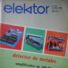 REVISTA ELECTRONICA ELEKTOR NUMERO 29 OCTUBRE 1982