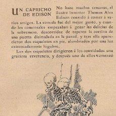 Coleccionismo de Revistas y Periódicos: UN CAPRICHO DE EDISON - 1905. Lote 44803862