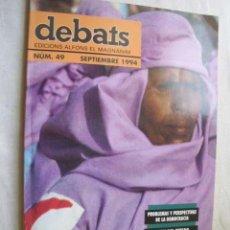 Coleccionismo de Revistas y Periódicos: DEBATS. Nº 49 SEPTIEMBRE 1994. Lote 44811171