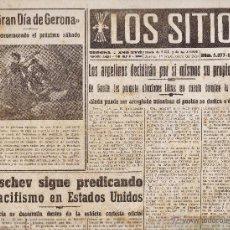 Coleccionismo de Revistas y Periódicos: LOS SITIOS - DIARIO DEL MOVIMIENTO / GERONA - EL TELEFONO DEL FUTURO - VER FOTO - AÑO 1959. Lote 44903200