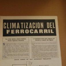 Coleccionismo de Revistas y Periódicos: RENFE -ARTICULO REVISTA ANTIGUA- 3 PAG. MAG. FOTOS FERROCARRIL - CLIMATIZACION FERROCARRIL 1969. Lote 44920480