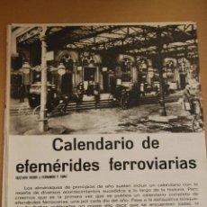 Coleccionismo de Revistas y Periódicos: RENFE -ARTICULO REVISTA ANTIGUA- 14 PAG. MAG. FOTOS FERROCARRIL - CALENDARIO EFEMERIDES 1968. Lote 44920533