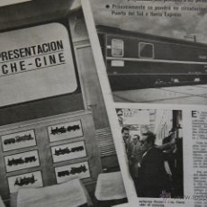 Coleccionismo de Revistas y Periódicos: RENFE -ARTICULO REVISTA ANTIGUA - 6 PAG.- VIAJE PRESENTACION COCHE CINE 1969 - FERROCARRIL. Lote 44920584