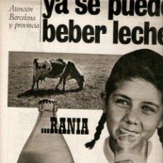 Coleccionismo de Revistas y Periódicos: AÑO 1965 RECORTE PUBLICIDAD BEBIDAS FRUCO ZUMO JUGO DE FRUTA LECHE RANIA MONTSENY. Lote 44941504