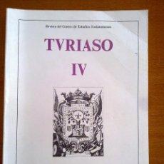 Coleccionismo de Revistas y Periódicos: TURIASO IV, REVISTA DEL CENTRO DE ESTUDIOS TURIASONENSES. Lote 44999080