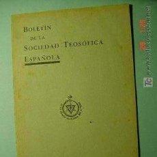 Coleccionismo de Revistas y Periódicos: 1332 SOCIEDAD TEOSOFICA ESPAÑOLA BOLETIN ENERO 1935 MUY RARO COSAS&CURIOSAS. Lote 26307732