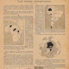 Coleccionismo de Revistas y Periódicos: LAS TIERRAS INEXPLORADAS (SAHARA, WADAI, VALLE DE SOBAT, TÍBET, NEPAL, POLOS...) - 1899. Lote 45006445