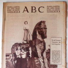 Coleccionismo de Revistas y Periódicos: DIARIO ILUSTRADO ABC 7 FEBRERO 1934. CAMPO TROYANO LOS ANGELE, TEATRO LARA, FERIA LIBRO MADRID. Lote 45027005