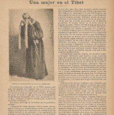 Coleccionismo de Revistas y Periódicos: UNA MUJER EN EL TÍBET ( SUSANA RYNHART ) - 1899. Lote 45046478