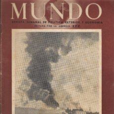 Coleccionismo de Revistas y Periódicos: REVISTA SEMANAL MUNDO, AÑO II Nº 62 - 13 DE JULIO DE 1941 - II GUERRA MUNDIAL. Lote 45060004