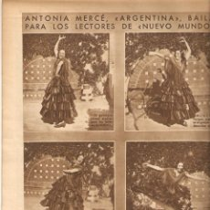 Coleccionismo de Revistas y Periódicos: AÑO 1932 ANTONIA MERCE ARGENTINA FLAMENCO MONTELLANO ANARQUISMO ALFONSO JIMENEZ PERFUMERIA PARERA. Lote 45103199