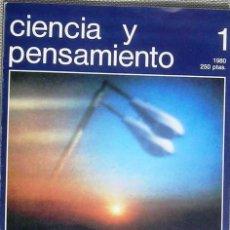 Coleccionismo de Revistas y Periódicos: CIENCIA Y PENSAMIENTO, Nº 1 REVISTA 1980. Lote 45108224