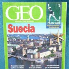Coleccionismo de Revistas y Periódicos: REVISTA GEO NÚMERO **102** SUECIA**JULIO 1995**. PELOTA VASCA; BOLIVIA; MALÍ; .... Lote 94190754
