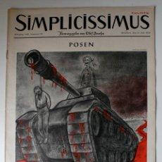 Coleccionismo de Revistas y Periódicos: REVISTA SATÍRICA ALEMANA SIMPLICISSIMUS, ESPECTACULAR PORTADA, JULIO 1956. Lote 45190661