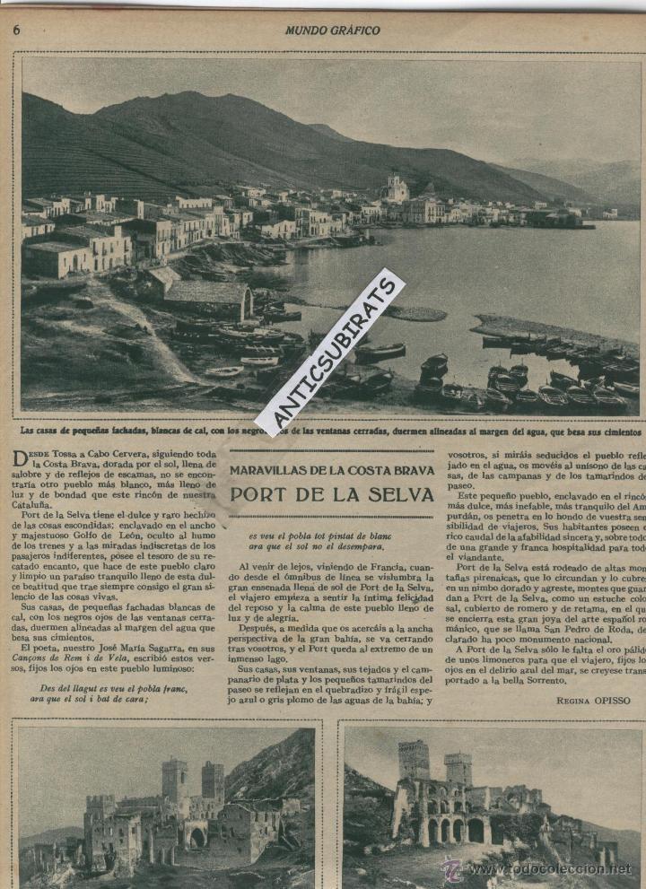 REVISTA AÑO 1932 PORT DE LA SELVA EL PRESIDENTE DE LA REPUBLICA ESPAÑOLA EN ALICANTE Y ELDA FOTOS (Coleccionismo - Revistas y Periódicos Antiguos (hasta 1.939))