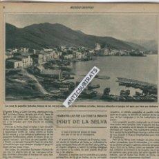 Coleccionismo de Revistas y Periódicos: REVISTA AÑO 1932 PORT DE LA SELVA EL PRESIDENTE DE LA REPUBLICA ESPAÑOLA EN ALICANTE Y ELDA FOTOS . Lote 45203572