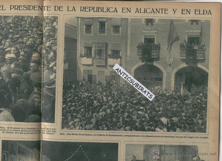 Coleccionismo de Revistas y Periódicos: REVISTA AÑO 1932 PORT DE LA SELVA EL PRESIDENTE DE LA REPUBLICA ESPAÑOLA EN ALICANTE Y ELDA FOTOS - Foto 3 - 45203572