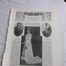 Coleccionismo de Revistas y Periódicos: LOS JUEGOS FLORALES EN SEVILLA,REINA DE LAS FIESTAS JOSEFA DIOSDADO HOJA REVISTA BLANCO Y NEGRO 1906. Lote 45215571