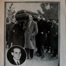 Coleccionismo de Revistas y Periódicos: HOJA DE PRENSA ORIGINAL DE 1919. ENTIERRO DEL ESCULTOR JULIO ANTONIO. Lote 45226423