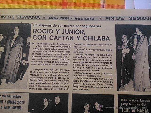 RECORTE ROCIO DURCAL JUNIOR (Coleccionismo - Revistas y Periódicos Modernos (a partir de 1.940) - Otros)