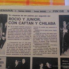 Coleccionismo de Revistas y Periódicos: RECORTE ROCIO DURCAL JUNIOR. Lote 45292530