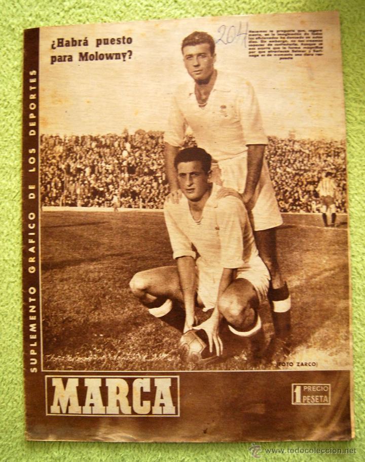 DIARIO DEPORTIVO MARCA - 28 OCTU 1946 - Nº204 - POSTER DE MEDIA PAGINA DEL LEVANTE U.D.... (Coleccionismo - Revistas y Periódicos Modernos (a partir de 1.940) - Otros)