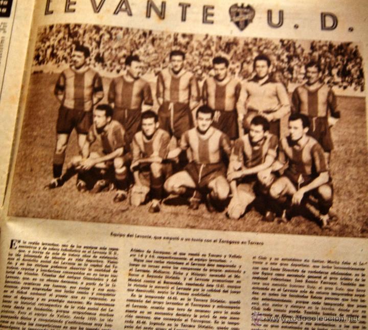 Coleccionismo de Revistas y Periódicos: DIARIO DEPORTIVO MARCA - 28 OCTU 1946 - Nº204 - POSTER DE MEDIA PAGINA DEL LEVANTE U.D.... - Foto 2 - 45381736
