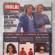 Coleccionismo de Revistas y Periódicos: HOLA - 1987 - DON JOHNSON, ISABEL PANTOJA, CARMEN ORDÓÑEZ, JULIO IGLESIAS, PAQUIRRI, SARA MONTIEL. Lote 97909711