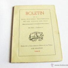 Coleccionismo de Revistas y Periódicos: LOTE DEL BOLETIN DE LA REAL SOCIEDAD VASCONGADA DE AMIGOS DEL PAIS - AÑO XIX CUADERNO 2 - 1963. Lote 45409396