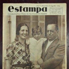 Coleccionismo de Revistas y Periódicos: REVISTA ESTAMPA Nº 344, 11 AGOSTO 1934. YO NO SOY CONSPIRADOR. GENERAL SANJURJO. Lote 45514248