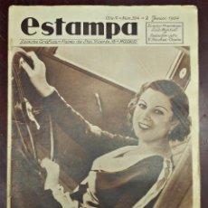 Coleccionismo de Revistas y Periódicos - REVISTA ESTAMPA Nº 334, 2 JUNIO 1934. MI PRIMER DÍA DE MISS ESPAÑA HA SIDO TERRIBLE - 45514427