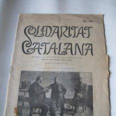 Coleccionismo de Revistas y Periódicos: SOLIDARITAT CATALANA- 1906. Lote 45611564