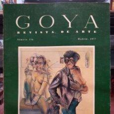 Colecionismo de Revistas e Jornais: GOYA REVISTA DE ARTE Nº 136, MADRID ENERO-FEBRERO 1977. Lote 45645242