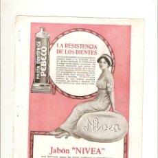 Coleccionismo de Revistas y Periódicos: AÑO 1913 RECORTE PRENSA PUBLICIDAD TABACO CIGARRILLOS 43 PASTA DENTIFRICA PEBECO JABON NIVEA. Lote 45648974