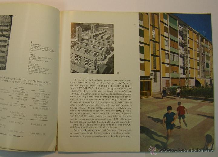 Coleccionismo de Revistas y Periódicos: INSTITUTO NACIONAL DE LA VIVIENDA, MEMORIA DE ACTIVIDADES 1962 + CUADERNILLO DISPOSICIONES LEGALES - Foto 4 - 45666939