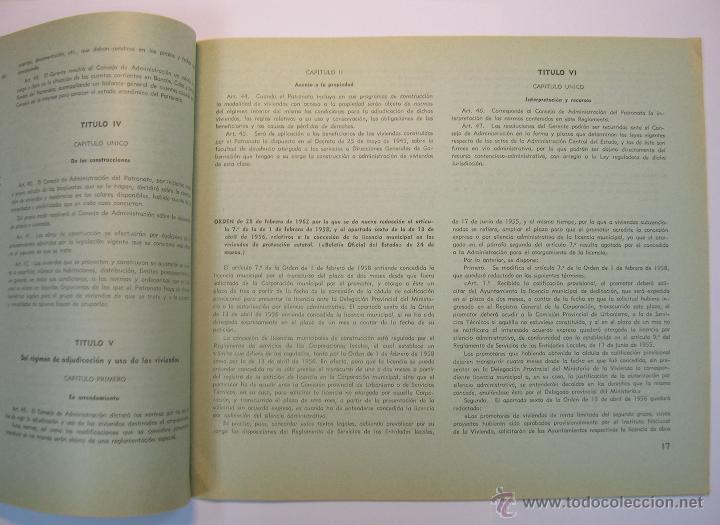 Coleccionismo de Revistas y Periódicos: INSTITUTO NACIONAL DE LA VIVIENDA, MEMORIA DE ACTIVIDADES 1962 + CUADERNILLO DISPOSICIONES LEGALES - Foto 8 - 45666939