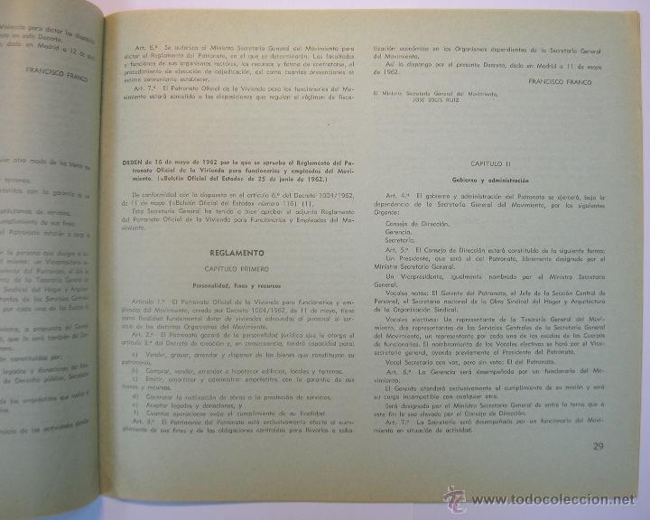 Coleccionismo de Revistas y Periódicos: INSTITUTO NACIONAL DE LA VIVIENDA, MEMORIA DE ACTIVIDADES 1962 + CUADERNILLO DISPOSICIONES LEGALES - Foto 9 - 45666939