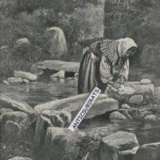 Coleccionismo de Revistas y Periódicos: REVISTA AÑO 1907 DIBUJO D PEDRERO DE GRAN DIMENSION MOLINO EN VILLAGARCIA DE AROUSA AROSA PONTEVEDRA. Lote 45692441