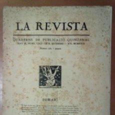 Coleccionismo de Revistas y Periódicos: LA REVISTA QUADERNS DE PUBLICACIO QUINZENAL ANY IX Nº 191-192 SETEMBRE 1923. Lote 45724644