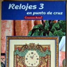 Coleccionismo de Revistas y Periódicos: REVISTA DE PUNTO DE CRUZ: RELOJES 3. Lote 134402354