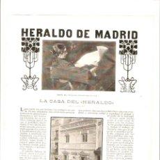 Coleccionismo de Revistas y Periódicos: AÑO 1903 HERALDO DE MADRID PINTURA ALVAREZ SALA CECILIO PLA LA VERBENA DE LA PALOMA SANDOVAL GITANO. Lote 45852749
